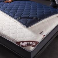 榻榻米床垫子1.8m 1.5m床经济型 学生宿舍床垫褥子单人0.9m垫被厚 白+蓝 加厚款8CM