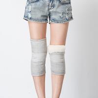 20180408022759008冬季四面弹皮毛一体纯羊毛护膝空调老寒腿防下滑老人保暖护膝 灰