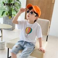 左西童装男童短袖T恤夏装2021新款儿童半袖上衣韩版中大童夏季潮