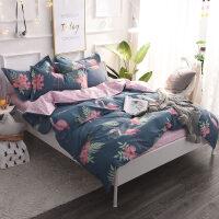 家�床上四件套全棉�棉公主�L宿舍三件套1.5m1.8m床��s被套床�坞p人