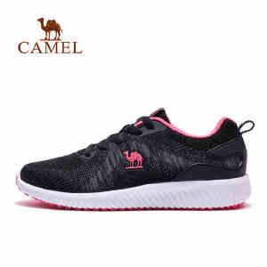 camel骆驼运动鞋女 2018春新飞织网鞋轻便透气减震跑步运动鞋跑鞋