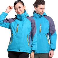 冲锋衣男女秋季冬季加绒加厚两件套三合一户外防风防水保暖定制