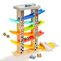 男孩儿童宝宝益智早教一岁男宝宝滑翔车轨道车玩具小汽车男孩1-2-3岁5-6 六轨竞速滑翔车
