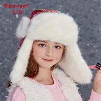 3-6岁雷锋帽儿童冬季毛呢女宝宝帽子护耳加绒加厚仿水貂毛东北帽 4750