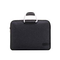 商务办公手提包帆布公文包 铝合金手柄 男女会议包手提文件袋定制 黑色 深灰色