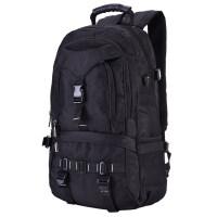 大容量旅行背包双肩包男女旅游包户外登山休闲书包韩版潮电脑包 黑色