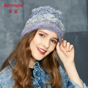 卡蒙保暖套头帽子秋冬季手工针织帽女韩版冷帽街头甜美可爱毛线帽 9141