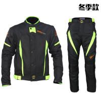 冬季男女赛车服防摔防水机车服装备摩托车骑行服套装 黑色