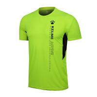KELME卡尔美 K27C7021 男式印花拼接圆领短袖运动T恤 健身休闲短袖衫 舒适透气运动T恤
