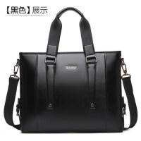 男包商务休闲手提包横款男士包包出差公文包电脑包皮包 支持礼品卡支付