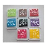 陆捌壹肆 韩国 八色盒装印油印泥 印章 小印章用印油 印泥 DIY相册
