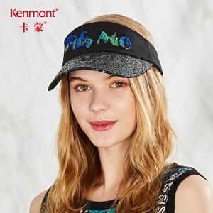 卡蒙亮片春夏季黑色鸭舌帽女韩国运动帽子街头潮人户外跑步空顶帽3543