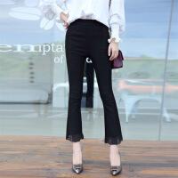 2018年春季中腰裤子唯美韩版潮流修身显瘦百搭可爱 图片色