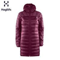 Haglofs火柴棍户外女款保暖防拨水中长款修身耐磨羽绒服603177 欧版