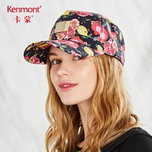 卡蒙印花全棉鸭舌帽女夏季韩版甜美粉色棒球帽学生出游防晒遮阳帽 3550