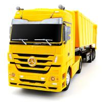 儿童玩具运输卡车2.4G遥控工程车自卸车翻斗车