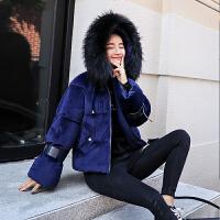 【限时抢购】羽绒棉冬季棉衣女超短款金丝绒小棉袄韩版宽松学生棉服外套