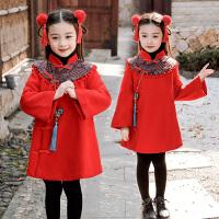 女童拜年服中���L旗袍唐�b童�b新年衣服�����^年�h服�和�冬�b