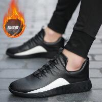 秋冬季新款加绒男鞋 潮流男士休闲鞋 青年跑运动鞋