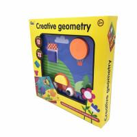 儿童智力玩具拼图1-2-3周岁宝宝蘑菇钉组合拼插板玩具儿童礼物 12张图+22枚蘑菇钉+收纳盒
