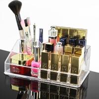 桌面化妆品口红架透明彩妆架眉笔眼线唇膏唇釉收纳展示盒 方形收纳盒