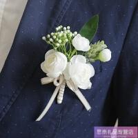 胸花结婚新郎新娘婚礼襟花伴郎伴娘手腕花一套韩式唯美创意