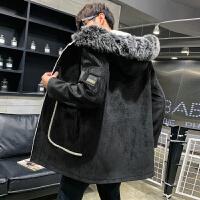 呢子大衣男冬季韩版英伦风中长款大衣男潮流帅气风衣加厚外套潮