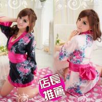 女式日本性感和服长裙游戏制服诱惑短裙睡衣睡裙套装 均码