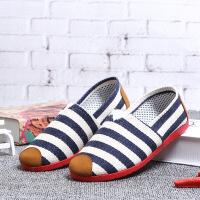 春季新款老北京布鞋女鞋平底单鞋浅口百搭一脚蹬休闲妈妈鞋工作鞋