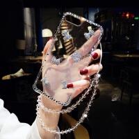 苹果7plus手机壳ip8带钻挂绳挂脖女iphonex外壳6硅胶全包韩国潮牌xsxr保护套6s个 iphone 8 (