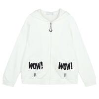 【5折价68元,叠加200-30】唐狮外套 女外套女款插肩袖印花针织外套夹克