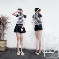 游泳衣女分体显瘦三件套小胸聚拢裙式保守遮肚泡温泉韩国小香风