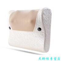 多功能电动揉捏腰部按摩器 家用腰酸腰痛腰疼按摩腰垫靠腰器 米白色