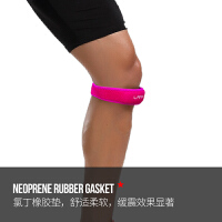 髌骨带运动护膝男士跑步半月板损伤护膝盖护具髌骨加压带 2_LS0324 基础款 女神粉【买一只送一只】 均码