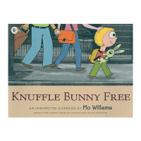 英国进口 Knuffle Bunny Free: An Unexpected Diversion 再见,古纳什小兔:意