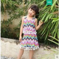 儿童泳衣女孩中大童连体裙式新款可爱韩国小孩女童游泳装