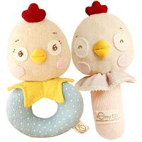 手工新生儿乐乐笑笑鸡宝宝手摇铃玩具 孕妇布艺用品玩具 一对鸡宝宝摇铃