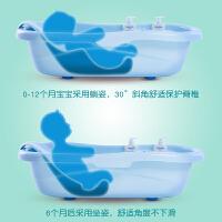 婴儿浴盆宝宝洗澡盆可坐躺新生儿用品大号加厚通用小孩儿童沐浴桶