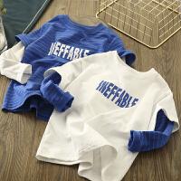 童装男童长袖T恤假两件儿童中大童卫衣体恤上衣