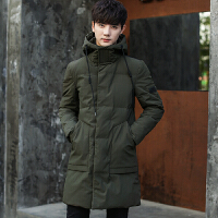 棉衣男中长款韩版修身冬季外套男2017新款青年加厚棉袄男潮流