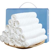 蒂乐生态棉尿布三层婴儿尿布纯棉纱布尿布片18条装全棉吸水透气可洗加厚加宽