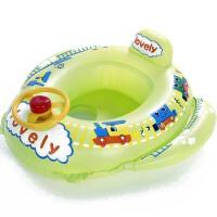 婴幼儿游泳装备 救生圈腋下圈 厚儿童坐艇圈 泳圈 火车头亮青座艇