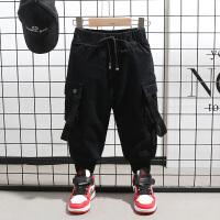 宝宝工装裤秋冬季小童棉裤外穿儿童男童裤子
