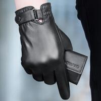 真皮手套男士冬季保暖皮手套骑车开车薄款加绒大码羊皮手套