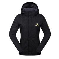 KELME卡尔美 K46C5054 女式修身运动棉衣 加厚保暖防风外套 户外连帽短款棉服