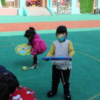 弹弹圈抛接球儿童幼儿园玩具弹沙包托盘户外感统训练柔软飞盘飞碟