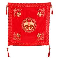 婚庆用品道具五喜红色包袱皮 结婚加大1米红布双层绸缎包袱 加大五喜包袱