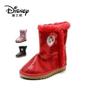 鞋柜/迪士尼儿童鞋女童靴子冬季冰雪奇缘鞋子低筒保暖1