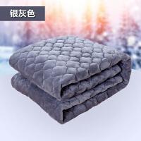 加厚冬季珊瑚绒床单单件法莱绒毯法兰绒床垫床上铺双人铺床毯单人 灰色 法兰绒