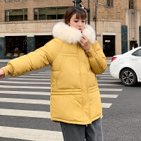 【限时抢购】冬季新款保暖棉服女2019新款韩版宽松加厚面包服中长款棉衣外套潮